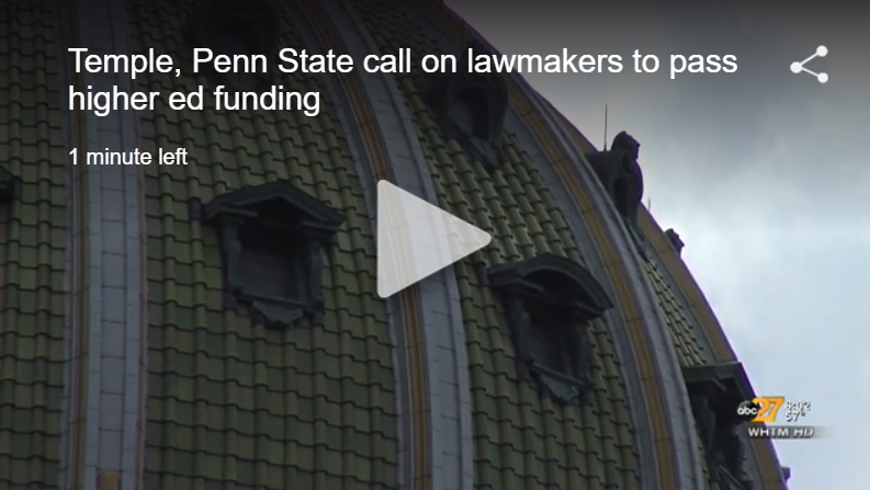 abc27 news story on passing higher ed budget