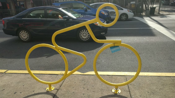 Bike Rack Located in Downtown Harrisburg
