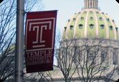 Capital with Temple Harrisburg Flag