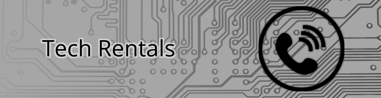 Tech rentals banner with Conference Phone