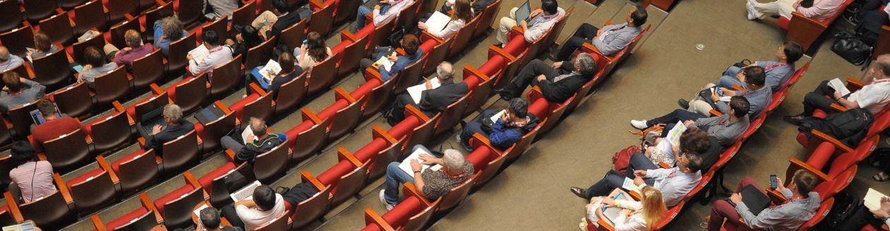 Guests attending a conference