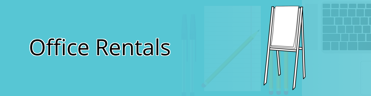 Tech rentals banner with Flip Chart