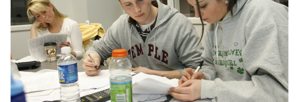 Students preparing for test
