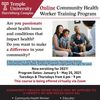 Online Community Health Worker Training Program