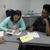 Students work on the Stengths-based Leadership Certificate