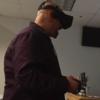 Student using virtual reality