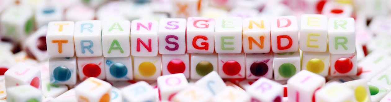 Transgender spelled out in blocks
